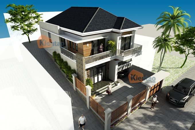 Phối cảnh 01: Thiết kế biệt thự 2 tầng tại Sơn La