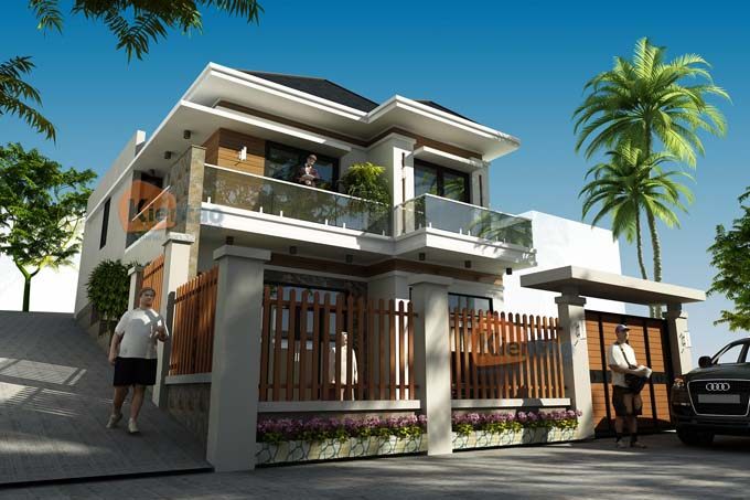 Phối cảnh 03: Thiết kế biệt thự 2 tầng tại Sơn La