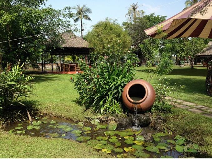 phong cách thiết kế sân vườn đồng quê việt nam