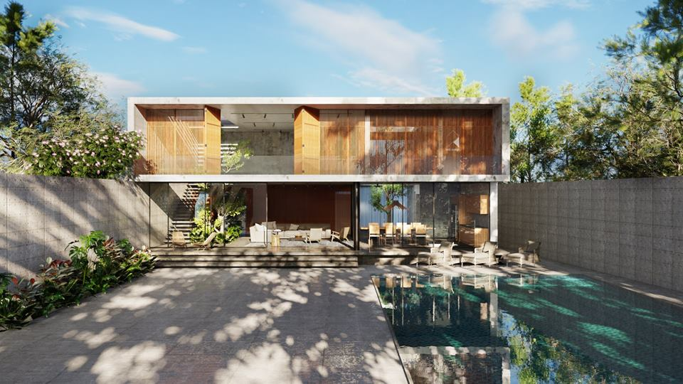 Thiết kế biệt thự 2 tầng đẹp như resort tại Đan Phượng 1