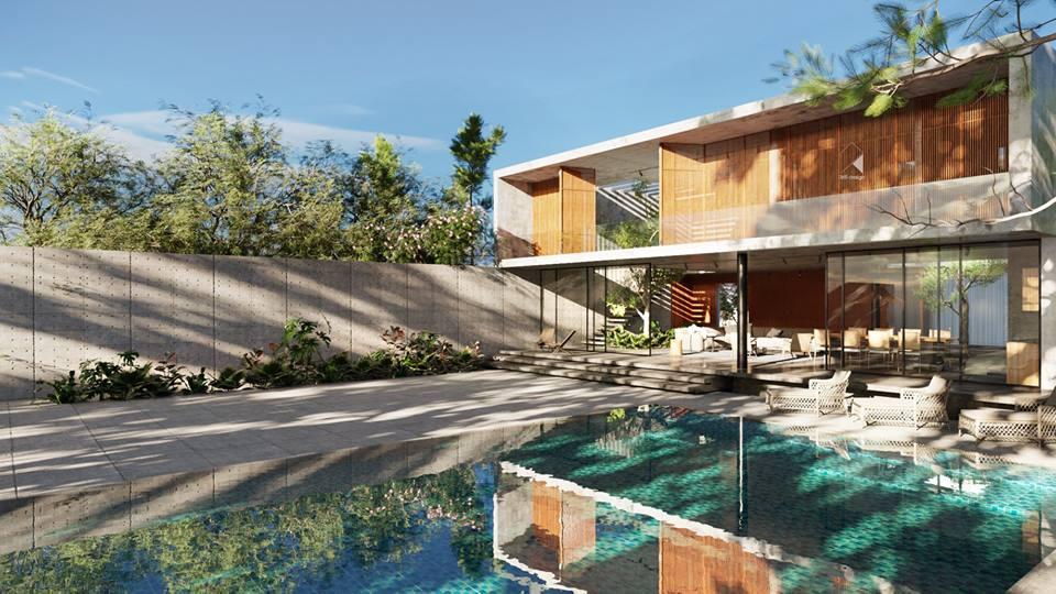 Thiết kế biệt thự 2 tầng đẹp như resort tại Đan Phượng 3