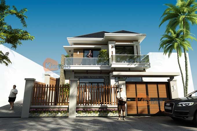 Mẫu thiết kế biệt thự 2 tầng tại Sơn La