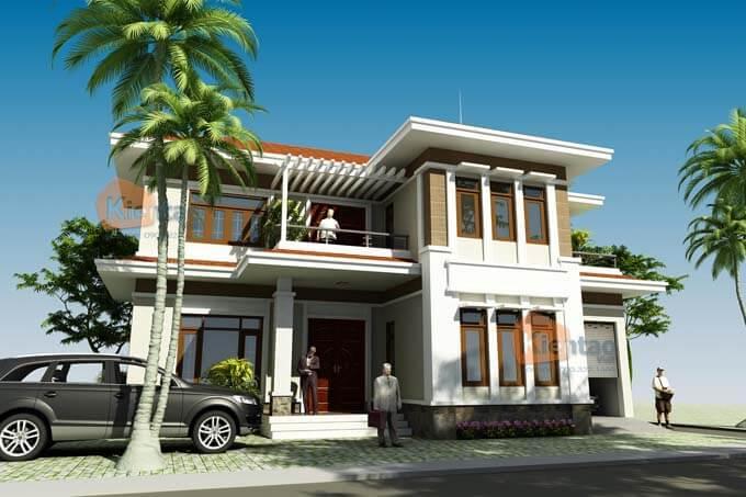 Thiết kế biệt thự 2 tầng tại Vĩnh Phúc