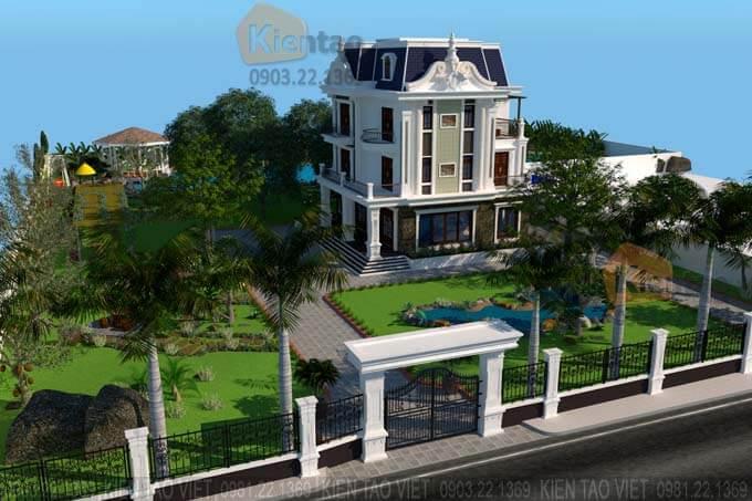 Khuôn viên mẫu biệt thự đẹp 3 tầng tại Nam Định