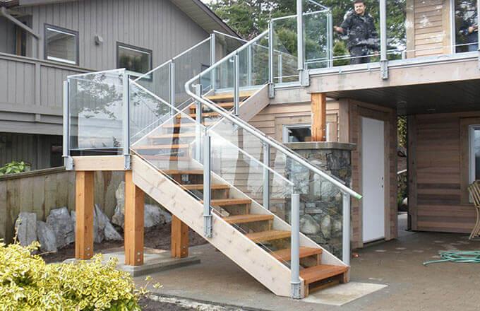 Mẫu 03: Thiết kế cầu thang ngoài trời