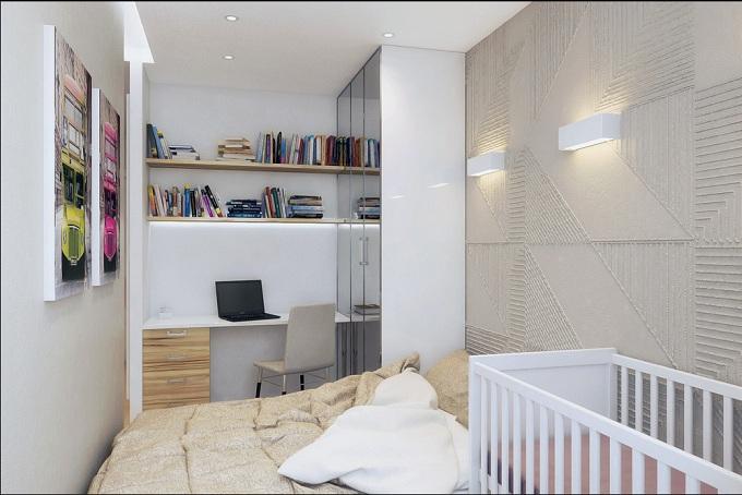 thiết kế nhà 50m2 1 phòng ngủ