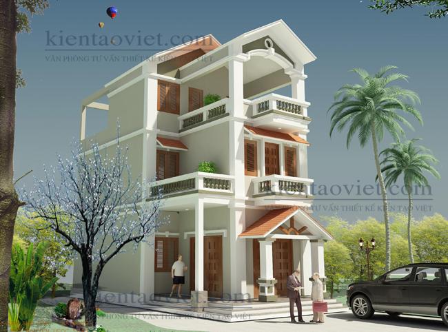 Thiết kế nhà lô phố đẹp diện tích 66m2