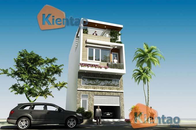 Thiết kế nhà ống 2 tầng tại Hà Nội