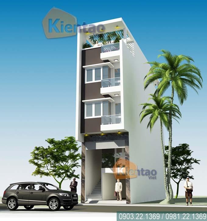 Kiến trúc nhà ống 5 tầng tại Thái Bình
