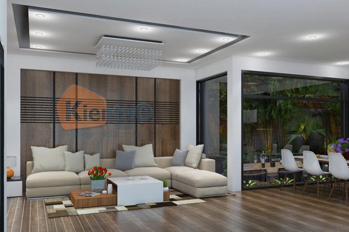 Mẫu thiết kế nhà ống hiện đại 3 tầng 7,5x12,5m tại Đà Nẵng chi phí 1,1 tỷ đồng - Nội thất phòng khách 02