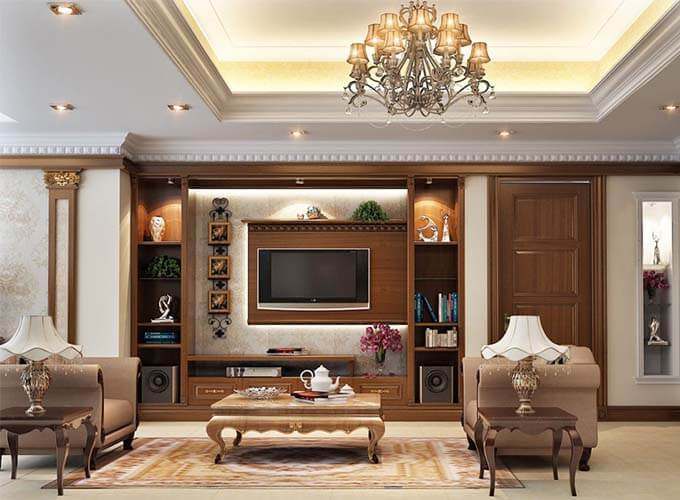 Chất liệu trong thiết kế nội thất biệt thự tân cổ điển