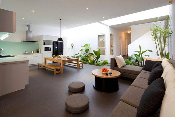 Thiết kế nội thất đẹp kết hợp không gian xanh - Ảnh 01