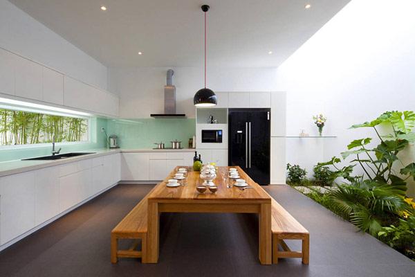 Thiết kế nội thất đẹp kết hợp không gian xanh. Ảnh 02