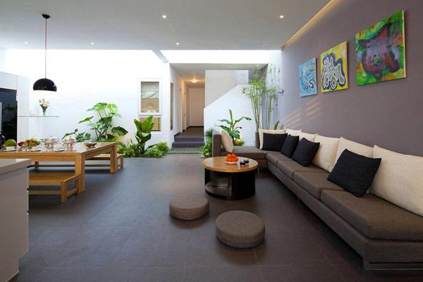 Thiết kế nội thất đẹp kết hợp không gian xanh. Ảnh 03