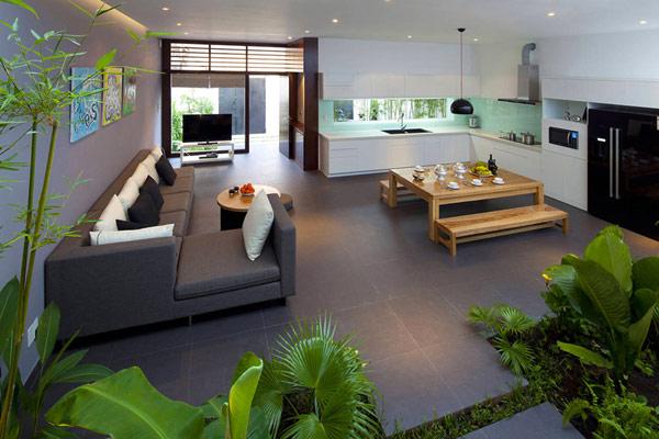 Thiết kế nội thất đẹp kết hợp không gian xanh. Ảnh 04