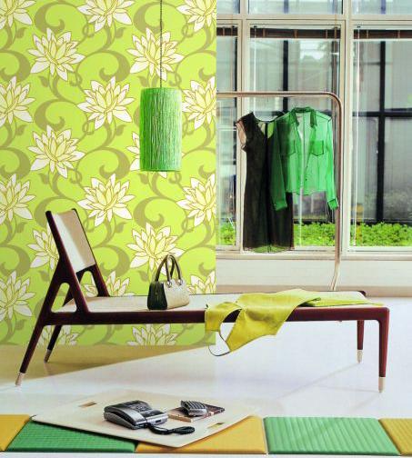 Thiết kế nội thất đẹp với giấy dán tường - Ảnh 01