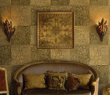 Thiết kế nội thất đẹp với giấy dán tường - Ảnh 02