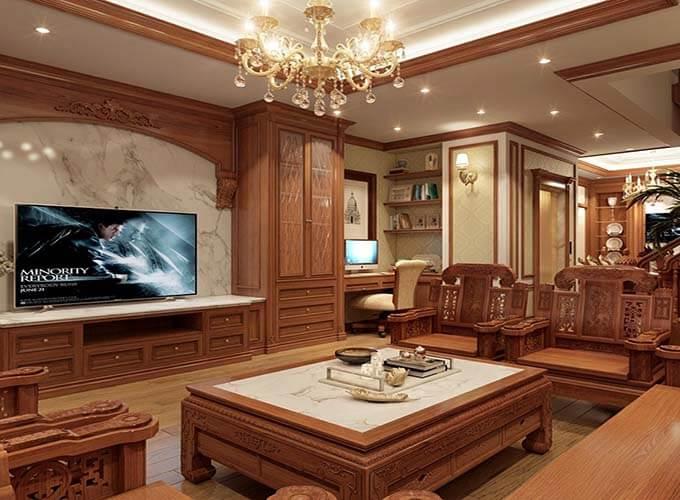 Thiết kế nội thất phòng khách biệt thự 4