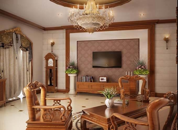 Thiết kế nội thất phòng khách biệt thự 5