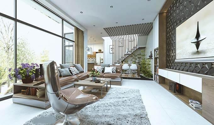 Thiết kế nội thất phòng khách biệt thự 1