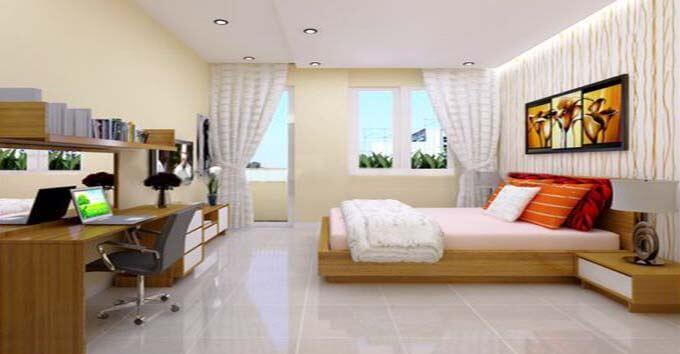 Thiết kế nội thất phòng ngủ cho nhà ống