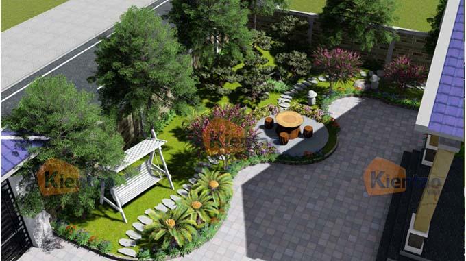 Mẫu thiết kế sân vườn tiểu cảnh đẹp ở Đồng Nai