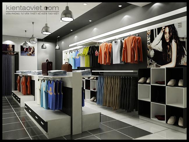 thiết kế shop quần áo đẹp