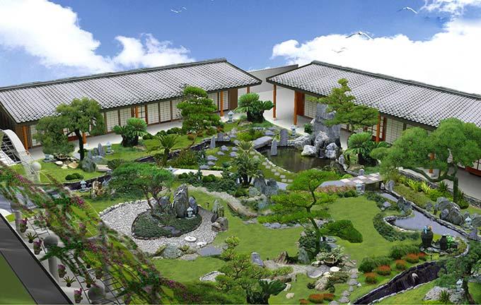 Tiểu cảnh sân vườn phong cách Nhật