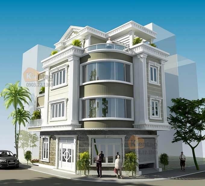 Thiết kế nhà phố lô góc tại Hải Dương