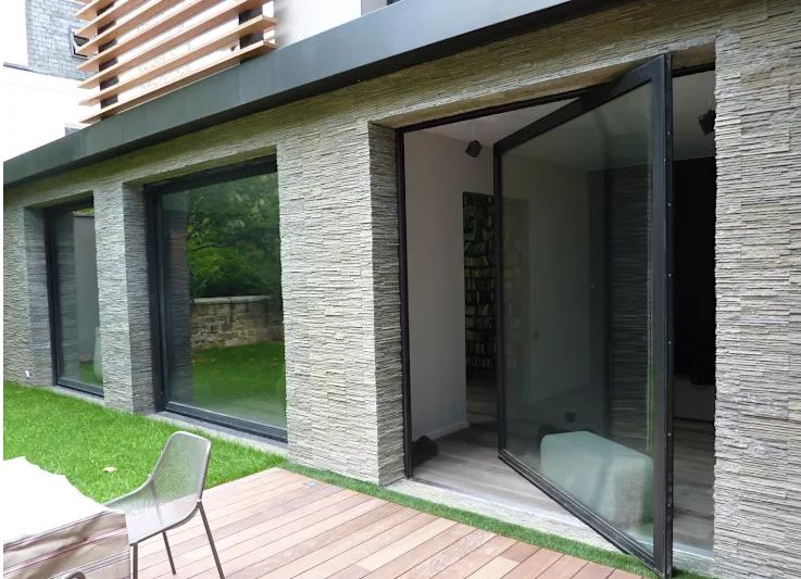 Vật liệu tường độc đáo thay thế gạch nhàm chán. 2