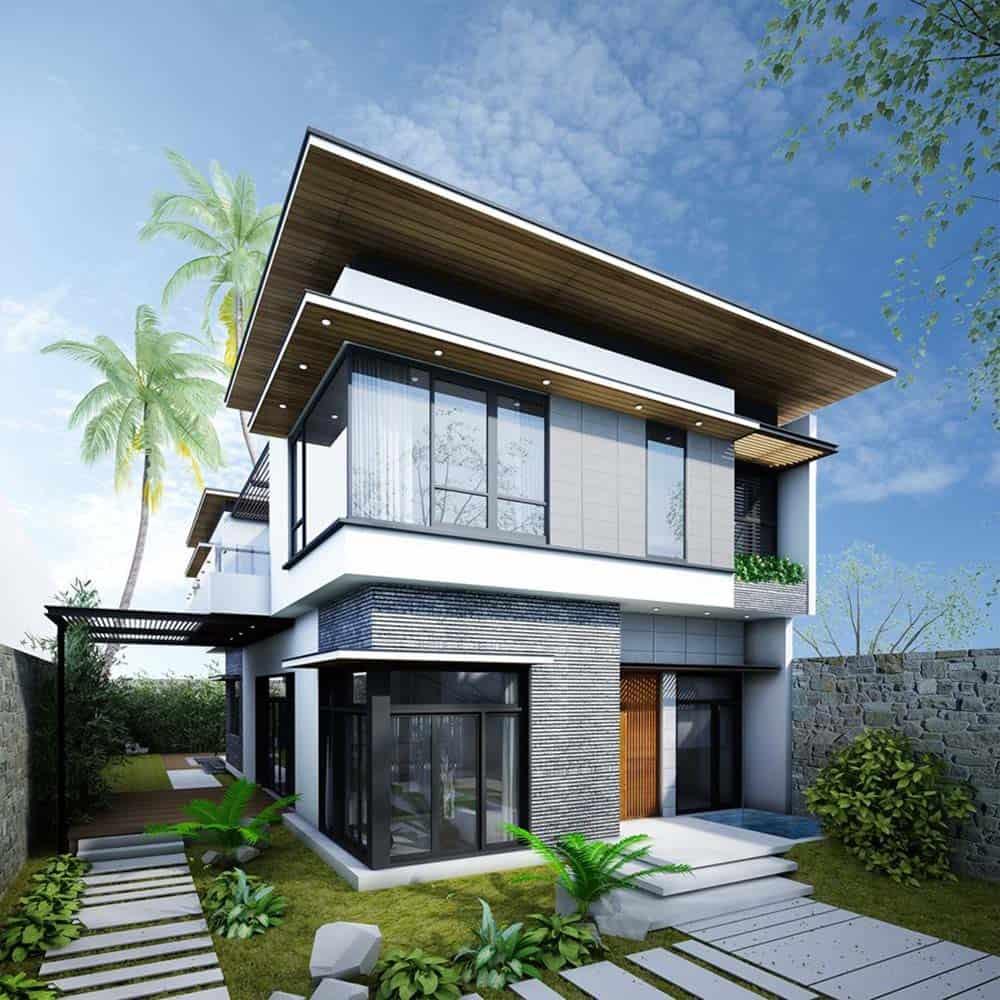 Thiết kế nhà theo kiến trúc độc đáo và hiện đại