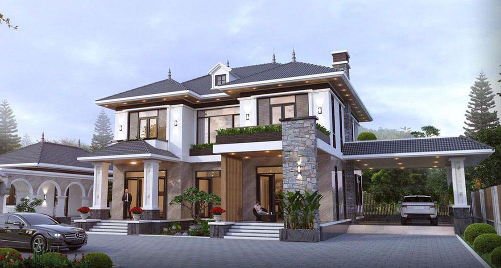 Thiết kế nhà mái Nhật đẹp uy nghi siêu cao cấp và ấn tượng