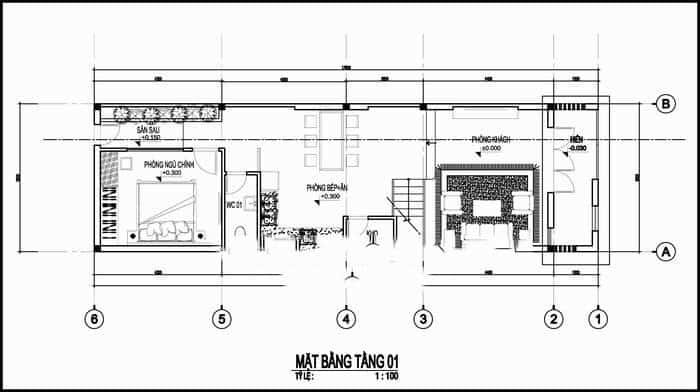 thiết kế nhà 2 tầng
