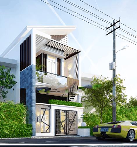 mẫu thiết kế nhà 2 tầng