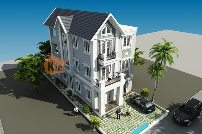 Biệt thự 3 tầng đẹp 9.5x24.5m phong cách cổ điển - BT25 - Phối cảnh 03