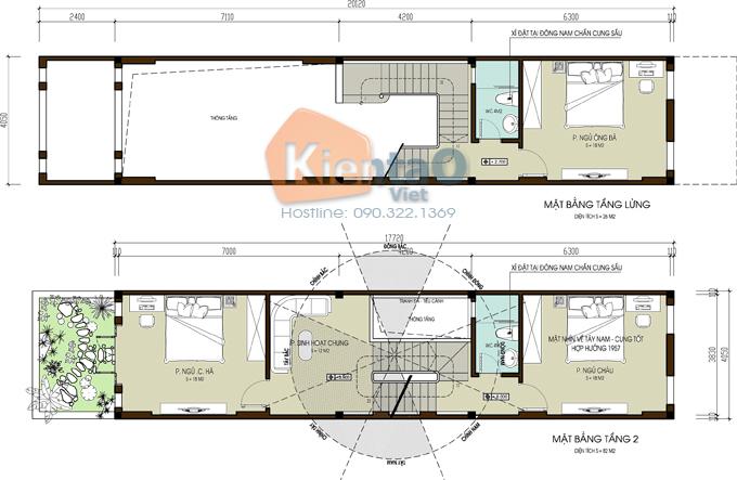 Nhà lô phố đẹp 4x20m cao 4 tầng kiểu biệt thự- mặt bằng tầng lửng + tầng 2