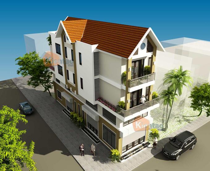 Nhà phố 5x20m 4 tầng đẹp tại quốc oai - Phối cảnh 02